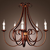 Stylish Chandelier with 5 Lights in Candle feature