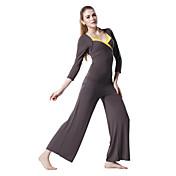 japannes хлопка для кожи коричневого 1/2 рукава спортивной йоги костюм