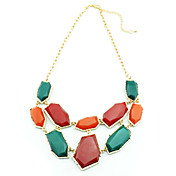 Women's Vintage Contrast Color Necklace(Length:40+5CM)