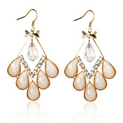 Pretty Alloy Crystal Irregular Chandelier Earrings