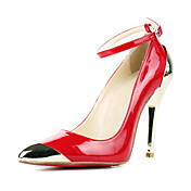 Patent Leather Stiletto Heel Pumps With Buckle Party / Evening Shoes