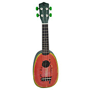 (Watermelon) Basswood Pineapple Soprano Ukulele with Gig Bag