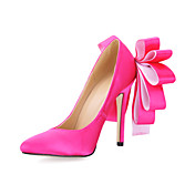 Satin With Bowknot Closed Toe Pumps (More Colors)