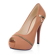 Gorgeous Leatherette Stiletto Heel Peep Toe With Zipper Party / Evening Shoes(More Colors)