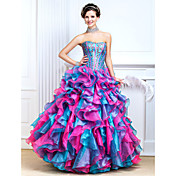 Ball Gown Sweetheart Floor-length Taffeta Prom Dress