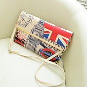 Vintage the UK Flag Pattern Enveloped Crossbody Bag