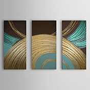 Hand Painted Oil Painting Abstract Circle Set of 3 1307-AB0475