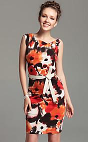 TS асимметричным вырезом поясом платье оболочка