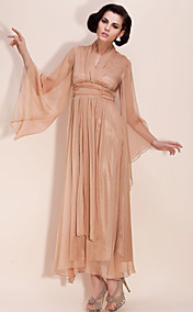 TS Chiffon Deep V Maxi Dress
