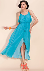 TS Flounced Chiffon Dress