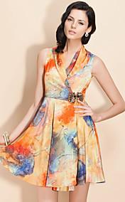ц абстрактные ситцевое платье