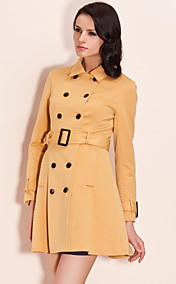 TS Mustard Double Breast Trench Coat