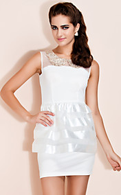 TS Sequin Collar Organza Peplum Dress