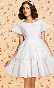 TS VINTAGE Two-tier Swing Dress