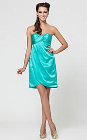 Онлайн возлюбленной короткий / мини-атласа платье невесты