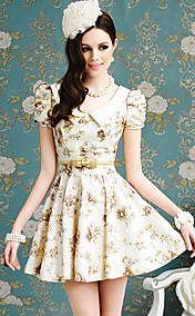 Цветочные качели печати женщин платье