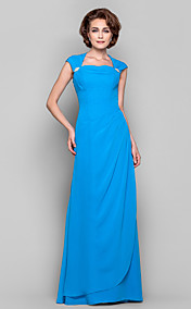 Sheath/Column Cowl Queen Anne Floor-length Chiffon Evening Dress