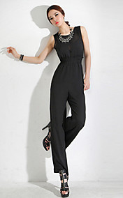 Women's Sheer Cut Out Wide Leg Jumpsuit