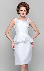 Sheath/Column Sweetheart V-neck Knee-length Taffeta Mother of the Bride Dress