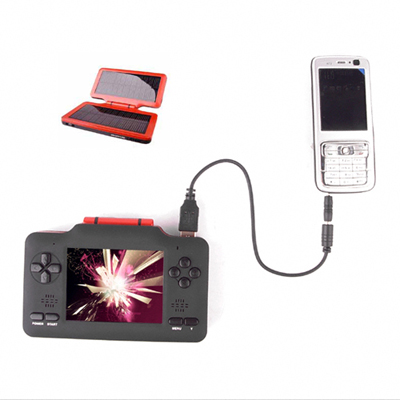 4GB Solar Powered MP3/ MP4 Player - Mobile Power Station M4096 (Start from 3 Units) Free Shipping