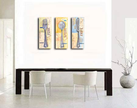 Handmade Oil Painting Lorton Open Stock - 3PC Canvas Set SZH370
