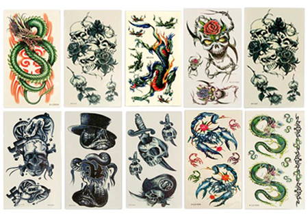 tattoo cards. Temporary Tattoo Cards