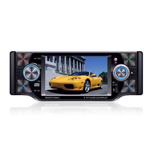 4-inch touch screen 1 din in-dash auto dvd speler tv en bluetooth functie dt-4002