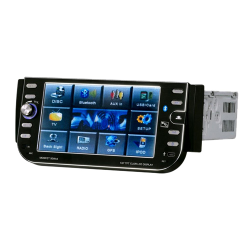 5.6-inch Touch Screen 1 Din In-Dash Car DVD Player Support Ipod DT-5601AI (SZC645)