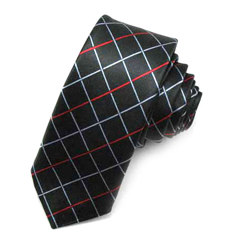 shirt and tie combinations with black. Luxurious satin Black plaid