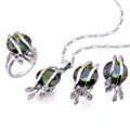 Fashion Cubic Zirconia Sets (Pendant, Ring and Earring) - CZ Jewelry Set SYX-0243 Pink (SZY113)