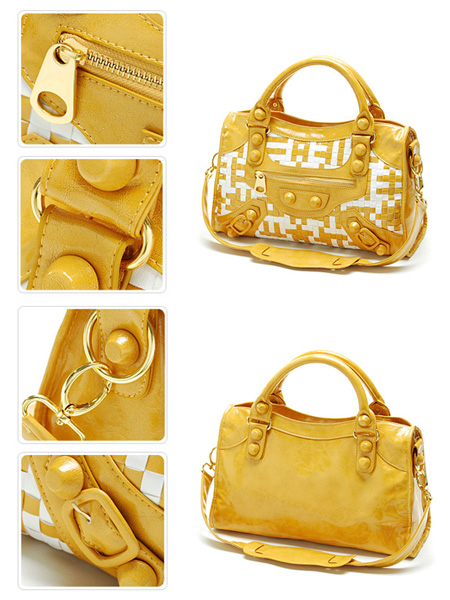 New Designer Fashion Motorcycle Leatherette Tote Bag Handbag.(10321125)