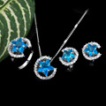 Platinum Cubic Zirconia Star Jewelry Set - CZ Jewelry Set 80820-06 (SZY421)