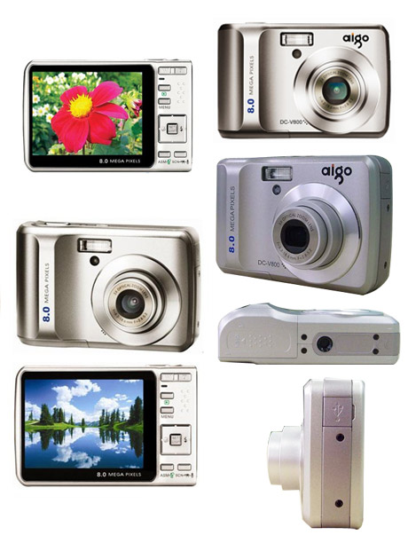 Aigo V800 flash 4x optische zoom digitale camera (ig028)