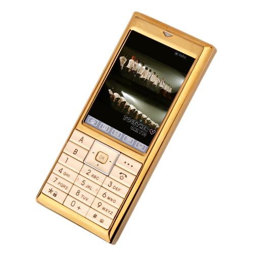 TT-V1 Dual Card Quad band TV Function Cell Phone Gold