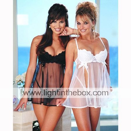 Cherrry Sparkles Sheer Baby Doll and Panties (LRB2047-PC)