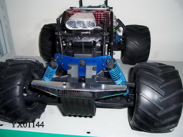 Versandkosten 1:8 RC Nitro Gas twin gp28 Motor 4WD 3-Gang-Getriebe Monster Monstertruck