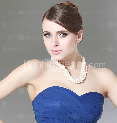 Sheath/ Column Sweetheart Sweep/ Brush Train Chiffon Evening/ Prom Dress