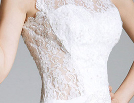 RAFFAELLA - Robe de Soire Mousseline Dentelle