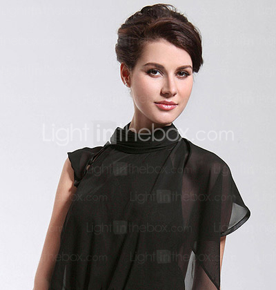 Chiffon Sheath/Column High Neck Sweep/Brush Train Evening Dress inspired by Angelina Jolie