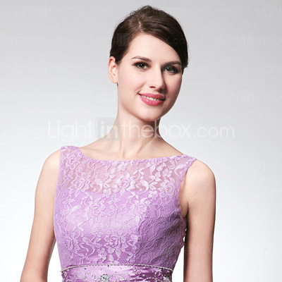 Sheath/ Column Floor-length Elastic Woven Satin Evening Dress