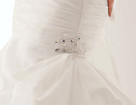 Charming Trumpet/Mermaid Strapless Chapel Train Taffeta Wedding Dress