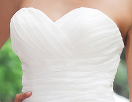 Ball Gown Sweetheart Short/ Mini Satin Organza Weddding Dress