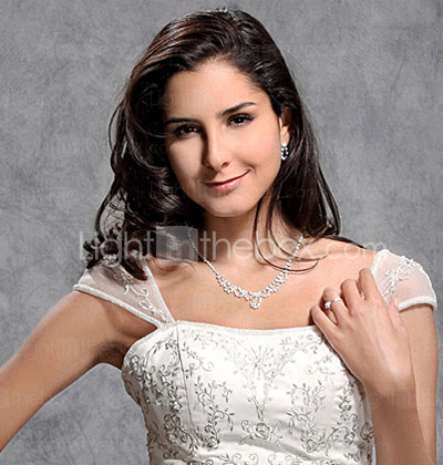 A-line/ Princess Off-the-shoulder Court Train Satin Organza Embroidery Wedding Dress