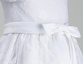 A-line Princess Scoop Knee-length Satin Flower Girl Dress