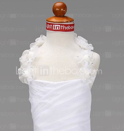 A-line Halter Floor-length Chiffon Flower Girl Dress
