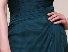 Chiffon Sheath/Column Strapless Floor-length Evening Dress inspired by Rachel Weisz