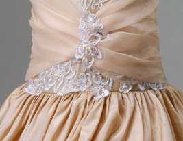 Ball Gown Spaghetti Straps Court Train Taffeta Flower Girl Dress