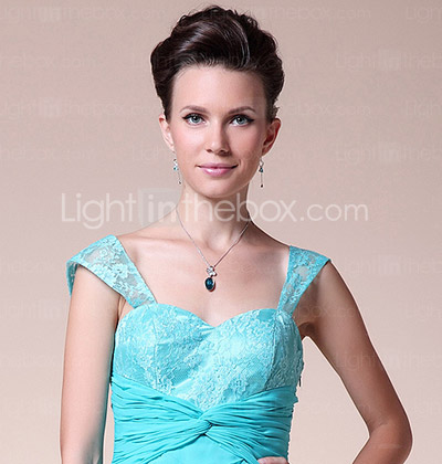 A-line Straps Sweetheart Asymmetrical Chiffon Elastic Woven Satin Wedding Party Dress