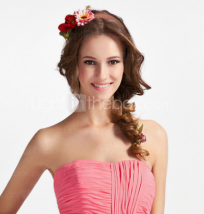 Sheath/ Column Sweetheart Floor-length Train Chiffon Bridesmaid Dress