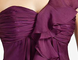 Sheath/ Column Sleeveless One Shoulder Knee-length Chiffon Bridesmaid Dress